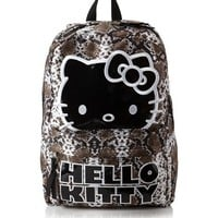 """Hello Kitty Sublimation Snake Brown and White Backpack 16"""""""