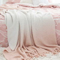 Aerie + Dormify Ombre Knit Throw, Rose