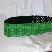 New, Thinner Headband Made With Celtic Medallion Fabric