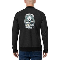 Vintage Retro Streetwear Bomber Jackets for Men Ocean Adventure