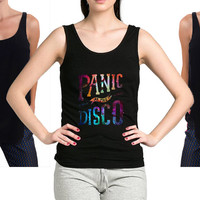 Panic at the disco galaxy nebula tanktop Unisex For Men and Women