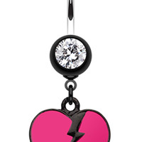 Broken Heart Belly Button Ring