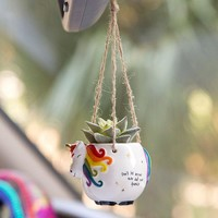 Mini Hanging Unicorn Succulent