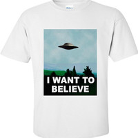 I Want To Believe X-Files Inspired T-Shirt