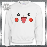 Buy Sweatshirt Pikachu Smile Face Sweater Womens and Sweater Mens