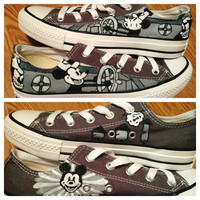 Steamboat Willie Hand Painted Custom Converse Shoes