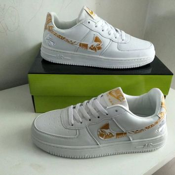 """""""Nike Air Force 1"""" Men Sport Casual Fashion Multicolor Low Help Plate Shoes Sneakers"""