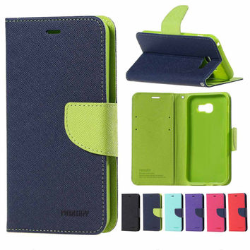 human Fancy Diary Leather Wallet Flip Cover Case For coque funda Samsung Galaxy j3 j5 j7 a3 a5 a7 2016 2017 prime s7 edge case