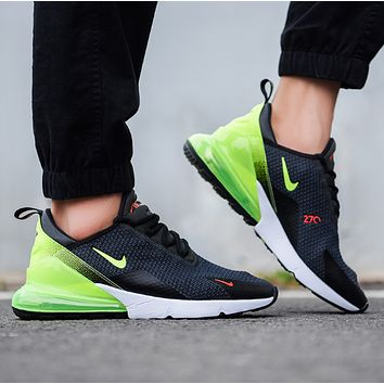N NIKE Air Max 270 New fashion hook men running shoes Black