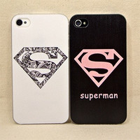 Cute superman case cover for iPhone 4 4s = 1946131780