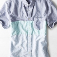 AEO Men's Colorblock Oxford Shirt (Seafoam)