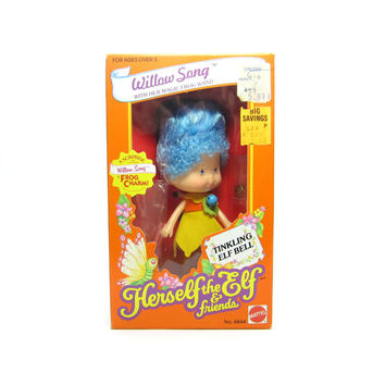 Willow Song Doll MIB Factory Sealed NRFB Herself the Elf Toy with Charm Bracelet, Comb, Wand, Dress, Shoes