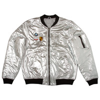 """Club Foreign Bomber Jacket Party Edition """"Silver"""""""