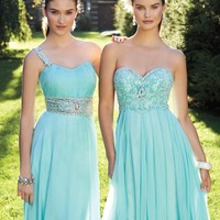 Prom Dresses 2013 - Strapless Long Prom Dress with Beaded Empire from Camille La Vie and Group USA