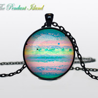 JUPITER Pendant  Jupiter necklace  planet necklace galaxy Universe Necklace  Space universe  Art Gifts for Her for men for him and hers