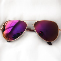 Riley Aviator Sunglasses (sunset)