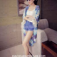 Korean wild hollow fringed long section of the corrugated jacket sun protection clothing