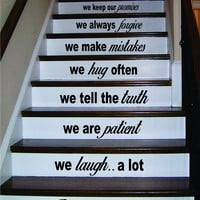 In This House Version 3 Stairs Decal Sticker Wall Vinyl Art Home Family