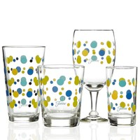 Fiesta Glassware, Set of 4 Lapis Dots Collection