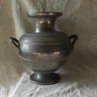 LARGE French antique pewter urn, French vintage urn, Pewter urn, pewter vase, urn, French vintage, French antique, country home
