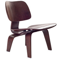 Mid Century Modern Molded Plywood Lounge Chair Wenge