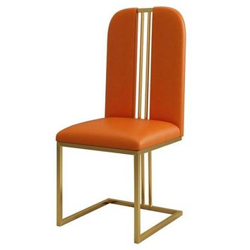 Modern Simple Chrome Plated Stainless Steel Dining Chairs