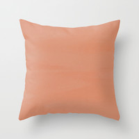 Antiqued Rosa Patina Throw Pillow by Beautiful Homes