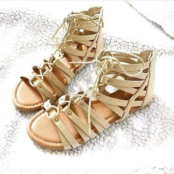Lace Up And Go Sandals