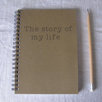 the story of my life    5 x 7 journal by JournalingJane on Etsy