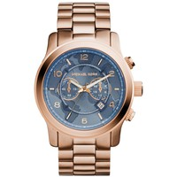 Watch Hunger Stop Oversized Runway Rose Gold-Tone Watch | Michael Kors