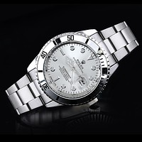 Rolex tide brand fashion men and women fashion watches F-SBHY-WSL Silver