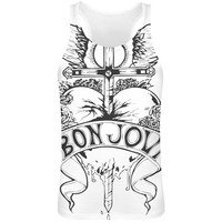 Bon Jovi Heart Design  Sublimation Tank Top T-Shirt for Men - FREE SHIPPING