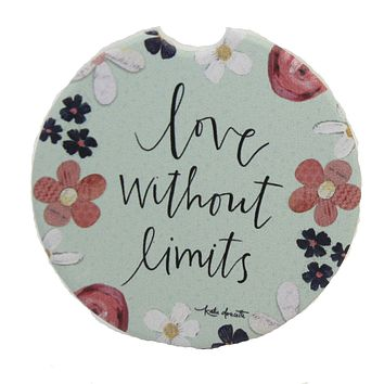 Car Coaster Love Without Limits Car Coaster Absorbent Flowers - 81117