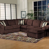 Serta Sidekick Fudge Chaise Sectional