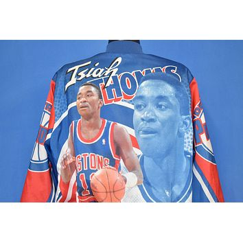 90s Detroit Pistons Isiah Thomas NBA Satin Jacket Large