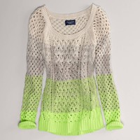 AE Ombre Open Stitch Sweater   American Eagle Outfitters
