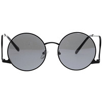 Black Radian Exaggerated Frame Cool Glasses