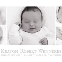 Birth Announcement Template, 5x7, baby Birth announcement, Storyboard, Instant Download,
