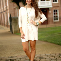 Piko dress 3/4 sleeve - Sand