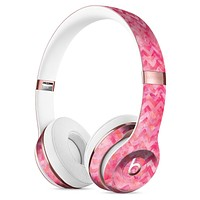 Pink Basic Watercolor Chevron Pattern Full-Body Skin Kit for the Beats by Dre Solo 3 Wireless Headphones