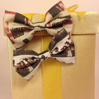 The Walking Dead Handmade Hair Bow Set of 2