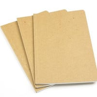 "ReWrite Chipboard, 8""x 10"" Recycled Notebooks, Blank, 3 Pack"