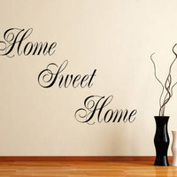 Home Sweet Home Vinyl Wall Decal Sticker Art