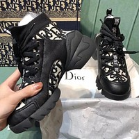Dior CD new daddy shoes letter embroidered socks casual sports ladies high shoes