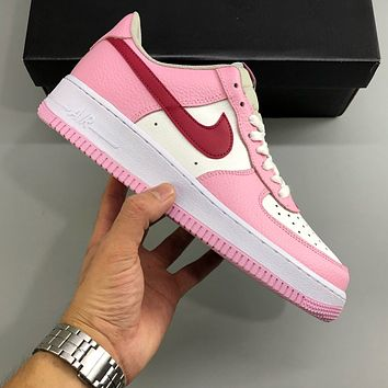 Nike Air Force 1 AF1 White/Fan Women's Low-Top Sports Running Shoes