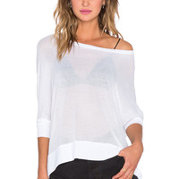 Michael Lauren Fred Long Sleeve Tee in White