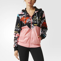 Print Adidas Letter Windbreaker Sports Gym Jogging Costume Jacket [8081915527]