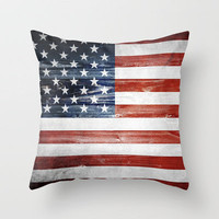 4th of July - American flag Throw Pillow by Nicklas Gustafsson | Society6