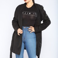 City Girl Vibes Coat - Black