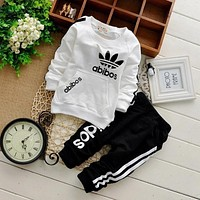 2017 Autumn Baby Boy Girl Clothes Long Sleeve Top + Pants 2pcs Sport Suit Baby Clothing Set Newborn Infant Clothing